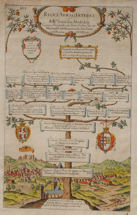1612 Reges Arrag. Veteres. Antiguos reyes de Aragón. Documento completo.