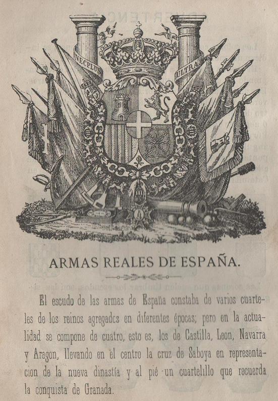 Armas reales de España en 1872