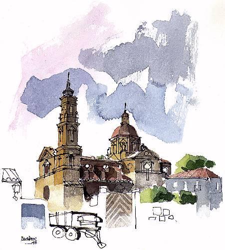 Monasterio de Santa Fe cerca de Zaragoza capital